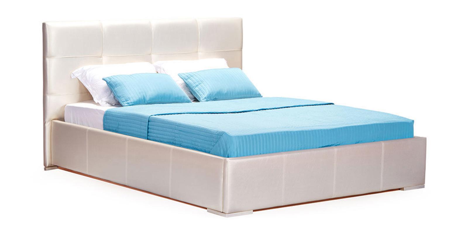 Кровать мягкая Лайф с подъемным механизмом (Перламутр)