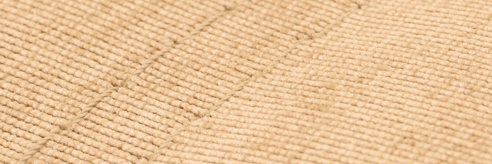Диван тканевый угловой Брюссель Velvet песочный (Вельвет + Экокожа, левый) от HomeMe.ru