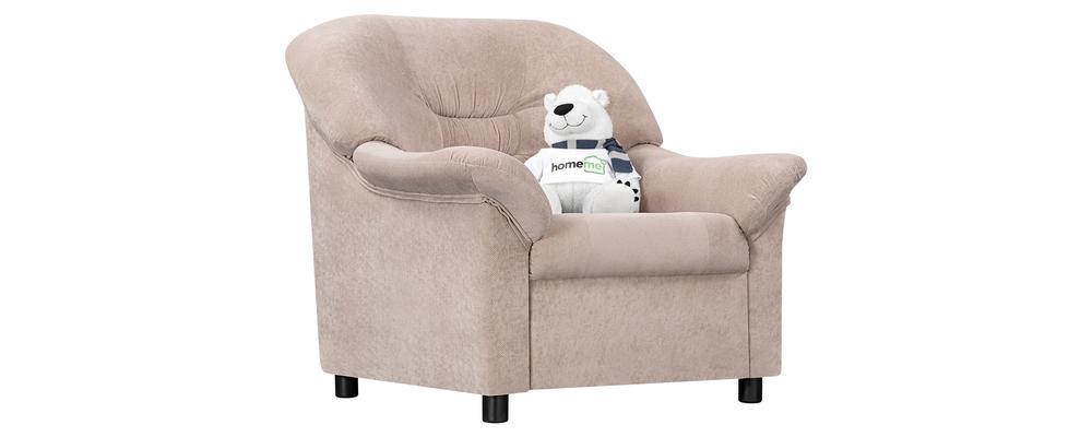 Кресло тканевое Честер Savoy бежевый (Флок)