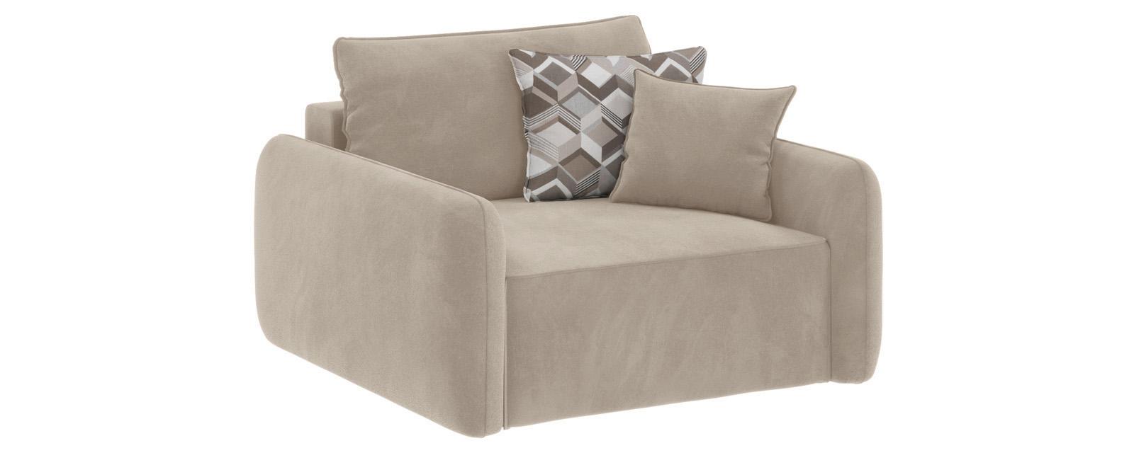 Модульный диван Портленд Soft светло-бежевый (Вел-флок)