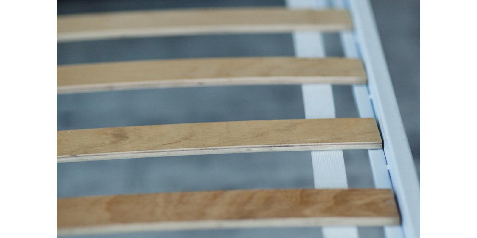Металлическая кровать 180х200 Симона с ортопедическим основанием (белый с золотом) S013/1-8