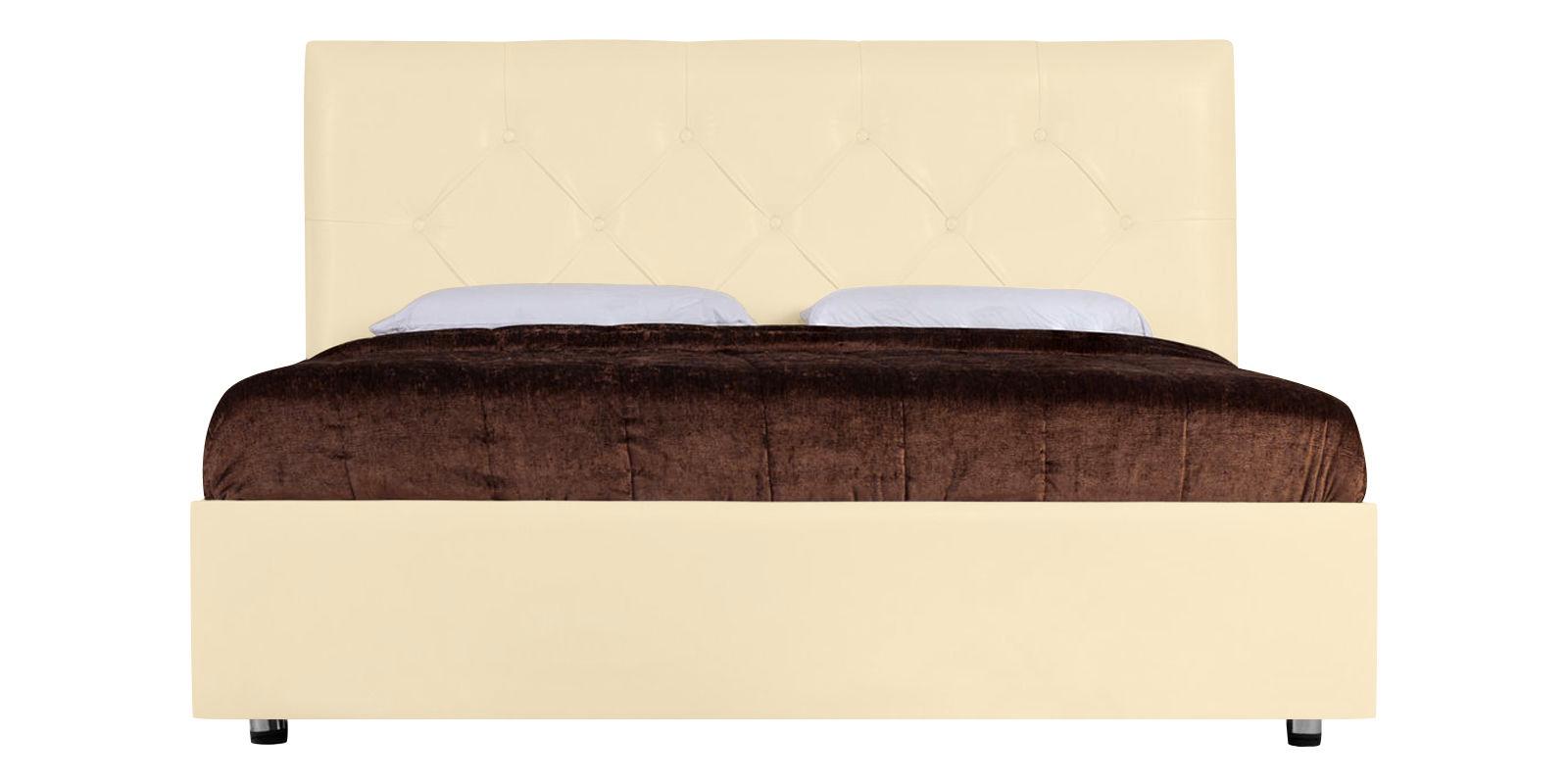 Мягкая кровать 200х160 Малибу вариант №2 с ортопедическим основанием (Бежевый)