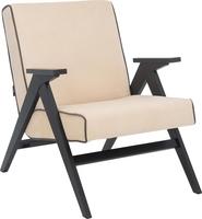 Кресло для отдыха Вест Венге, ткань Verona Vanilla, кант Verona Antrazite Grey