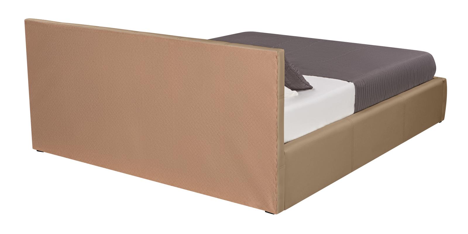 Мягкая кровать 200х160 Афина с подъемным механизмом (Luxe темно-бежевый)
