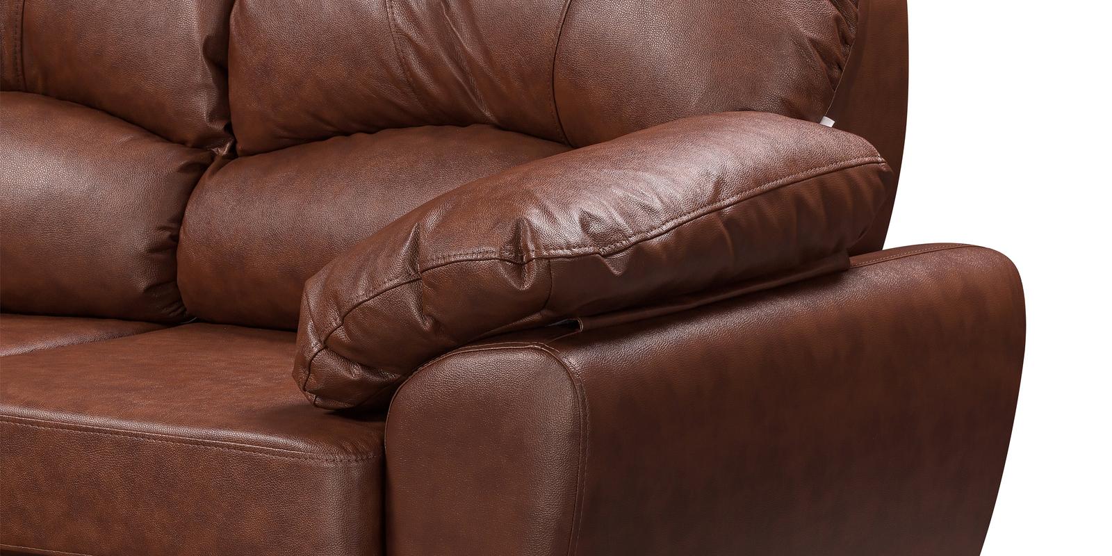 Диван кожаный угловой Эвита Коричневый (Натуральная кожа, правый)