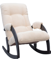 Кресло-качалка Модель 67 Венге, ткань Verona Vanilla