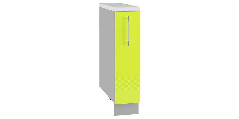 Кухонный напольный шкаф Тиара 20 см (серый/лайм глянец, правый)