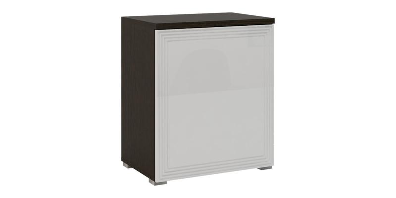 Шкаф распашной однодверный Верона Люкс 70 см вариант №2 (венге/белый глянец)