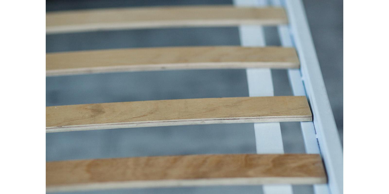 Металлическая кровать 180х200 Веста с ортопедическим основанием (белый с золотом) S003/1-8