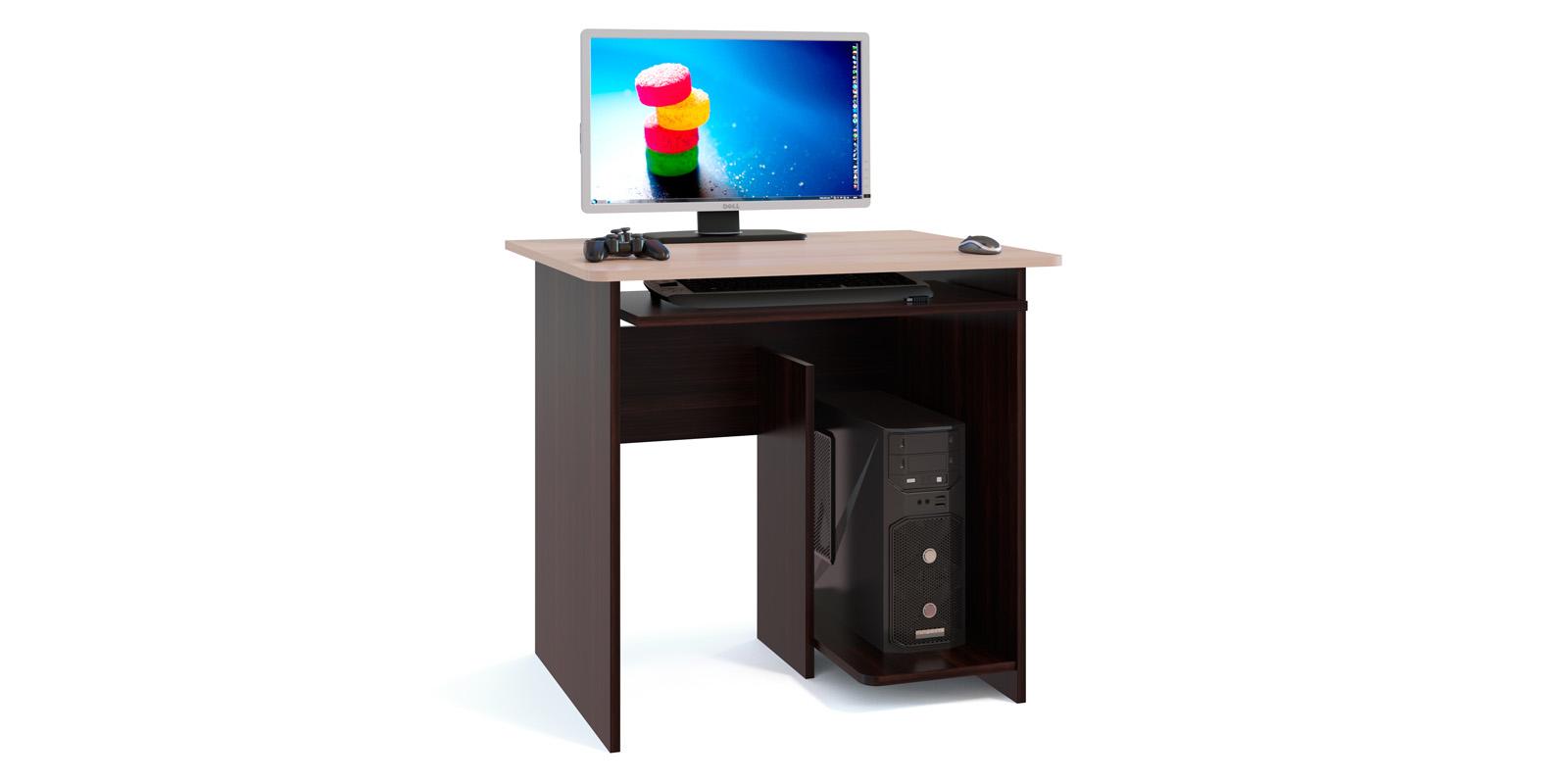 Стол компьютерный Элтон (венге/беленый дуб)