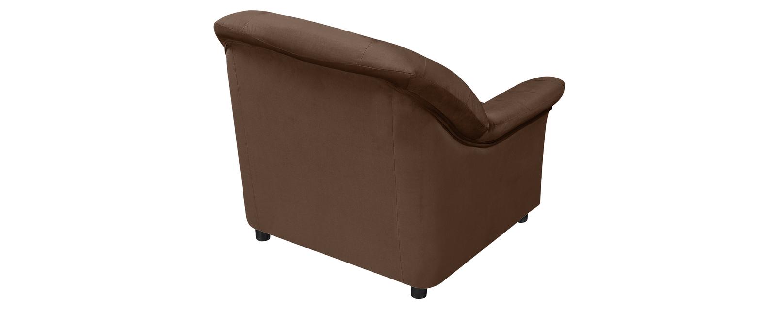 Кресло тканевое Честер Velure темно-коричневый (Велюр)