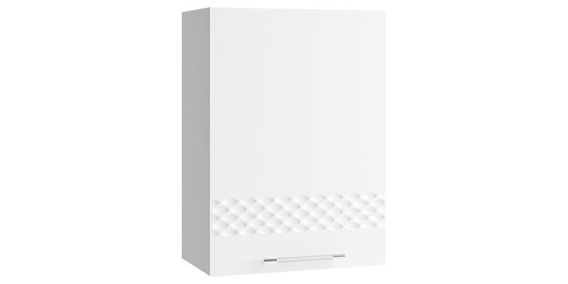Кухонный навесной шкаф Тиара 50/70 см (серый/белый глянец, правый)