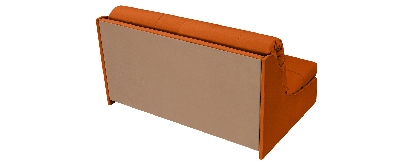 Диван тканевый прямой Токио Velutto оранжевый (Велюр)