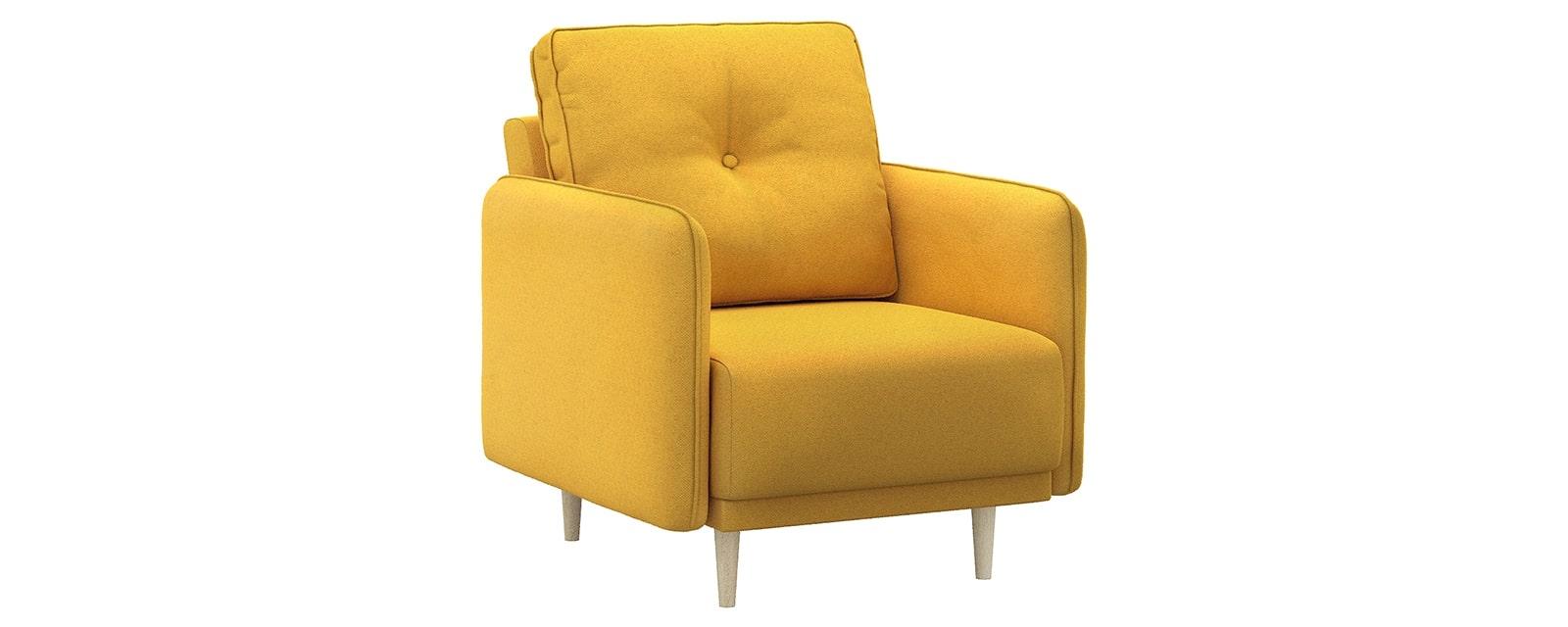 Кресло тканевое Голливуд Bjork горчичный (Рогожка)