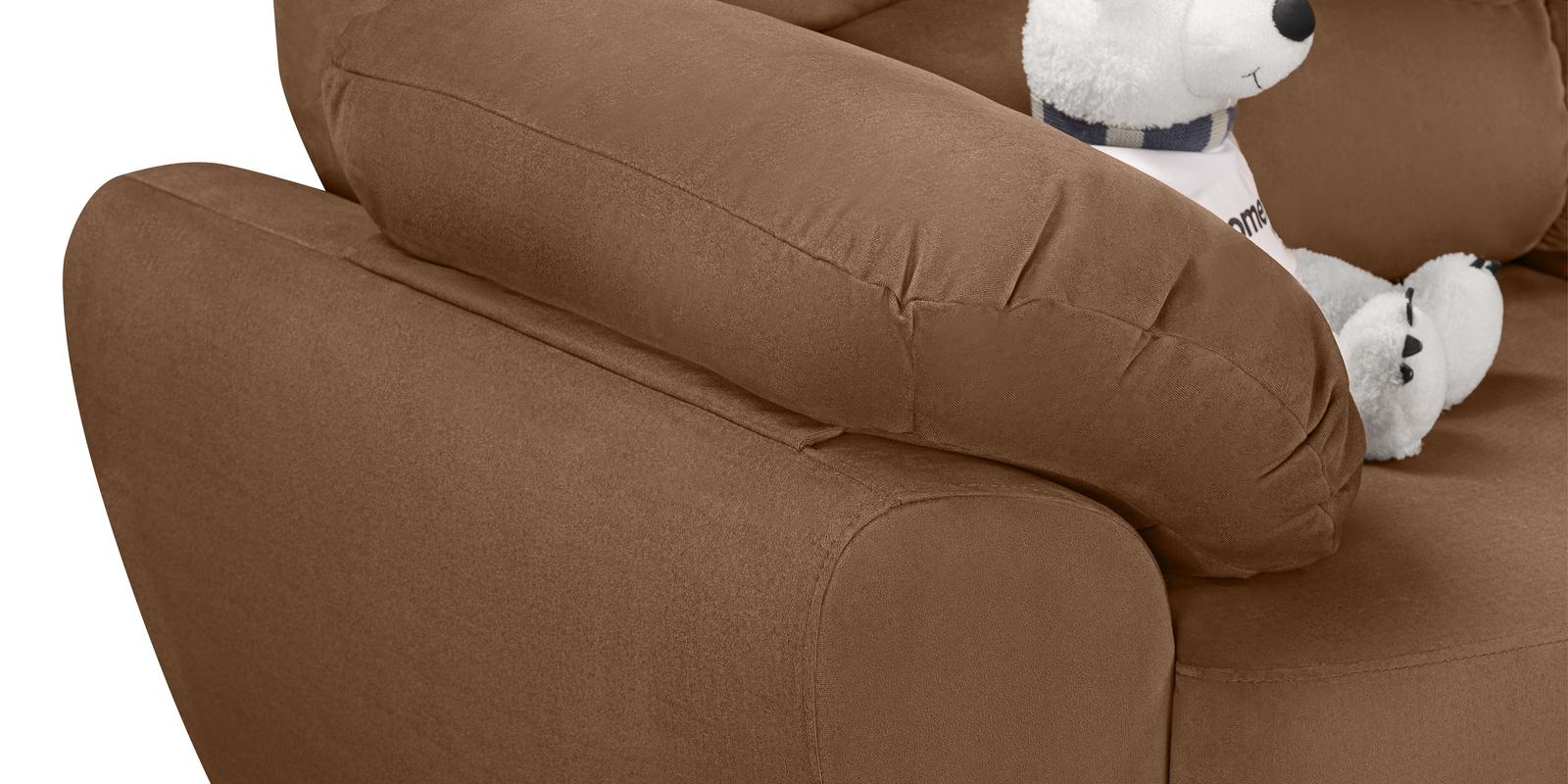 Диван тканевый угловой Эвита Velure коричневый (Велюр, левый)