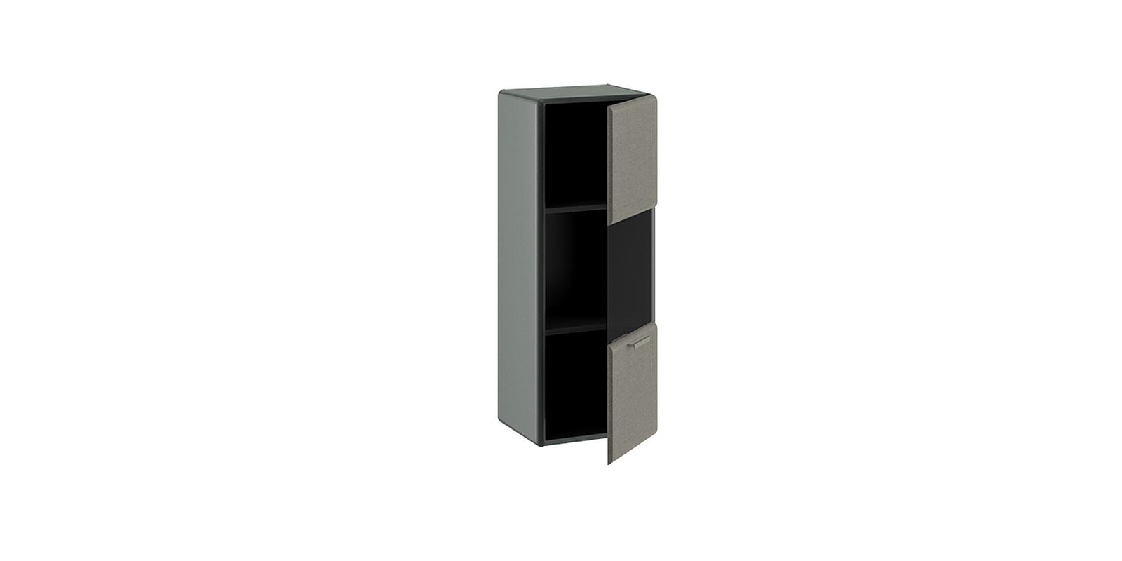 Шкаф навесной Сорренто (серый/коричневый) от HomeMe.ru