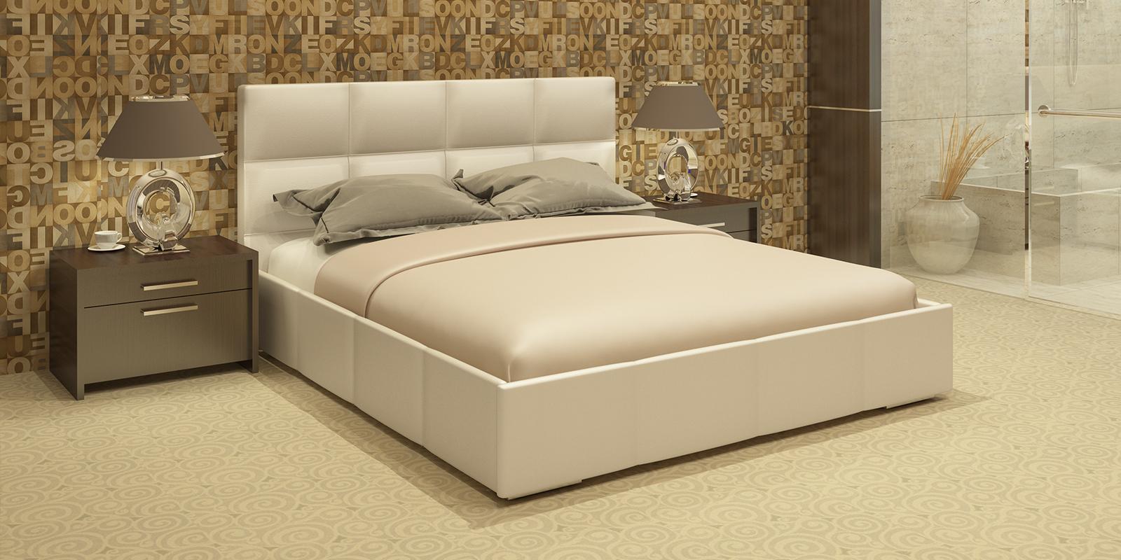 Мягкая кровать 200х160 Лайф с подъемным механизмом (Перламутр) Лайф