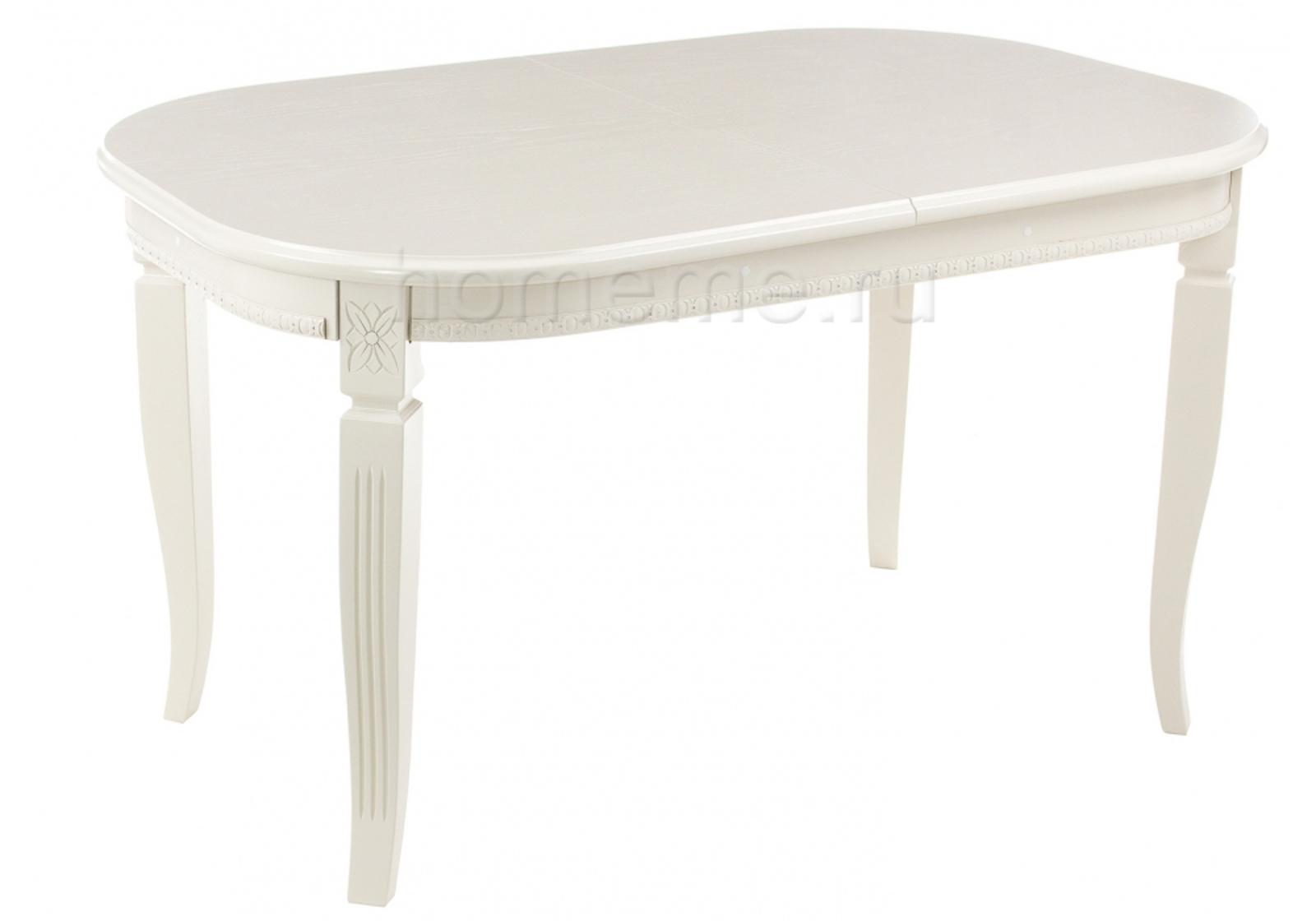 Стол деревянный Стол Romeo молочный без патины 270770 270770