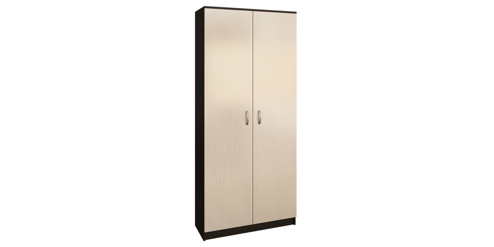 Шкаф распашной двухдверный Хельга вариант №1 (венге/дуб молочный) Хельга