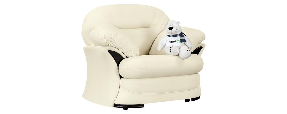 Кресло тканевое Ланкастер Luxe молочный (Экокожа)