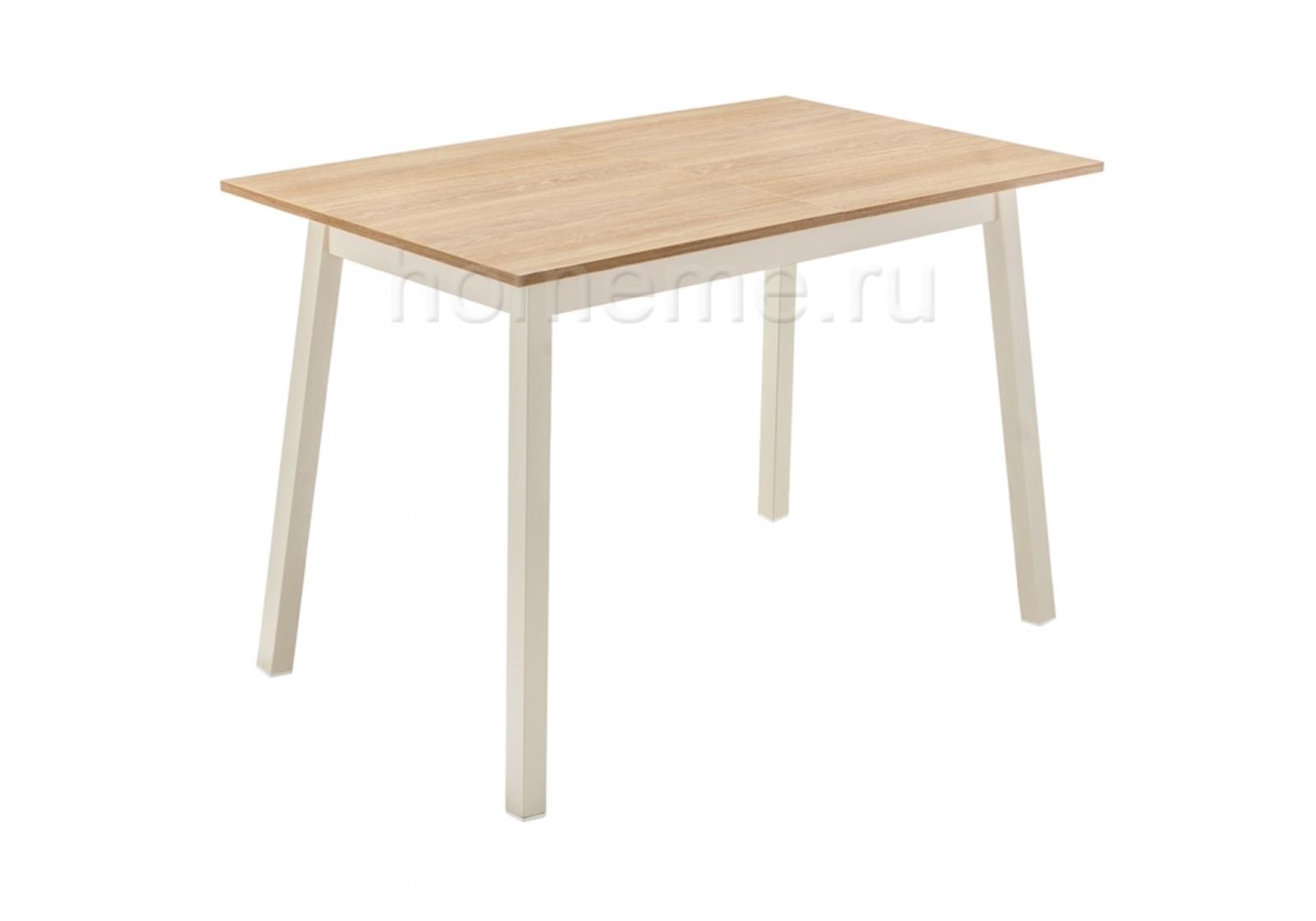 Кухонный стол HomeMe Ланс 110 дуб / кремовый 302728 от Homeme.ru
