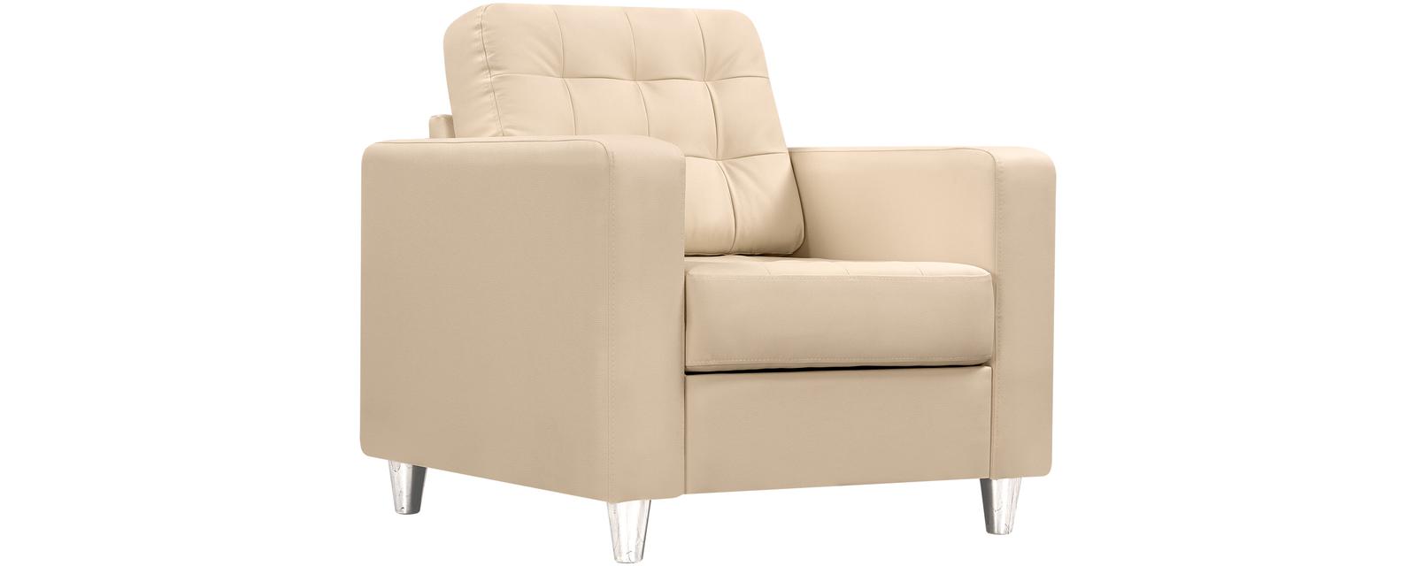 Кресло кожаное Камелот Бежевый (Натуральная кожа)