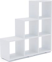 Стеллаж Стильный С-1/108*30*109/Белый/Белый