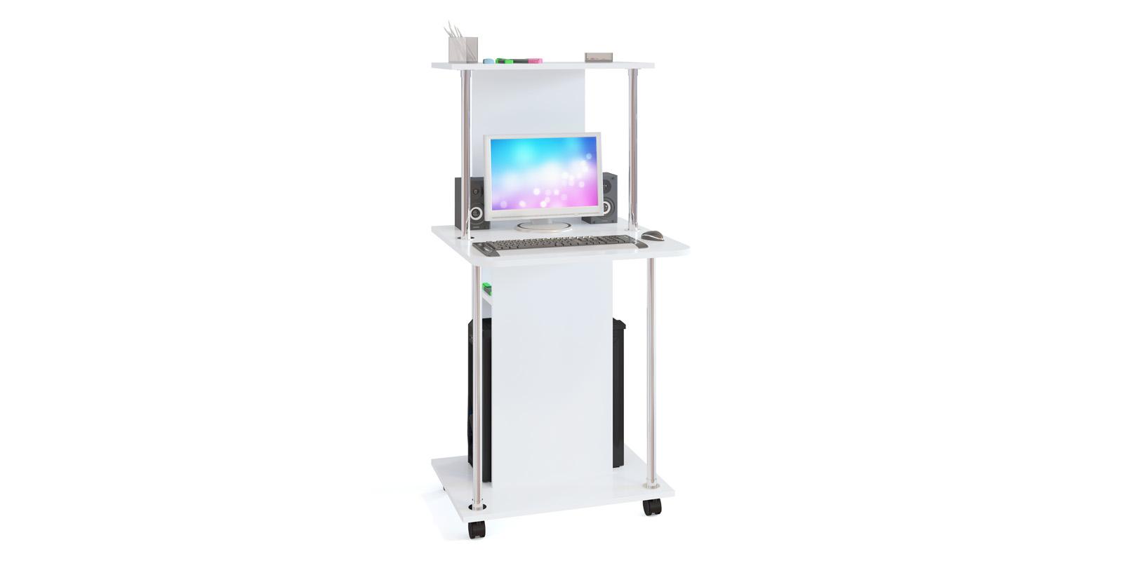 Стол компьютерный Конга (белый)