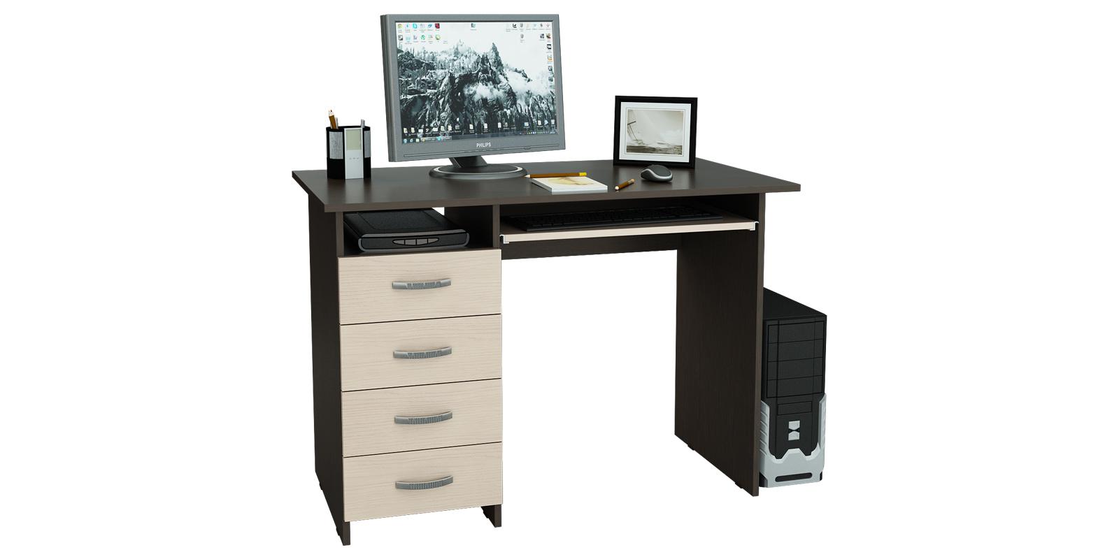 Стол компьютерный Харви левый (венге/дуб молочный)