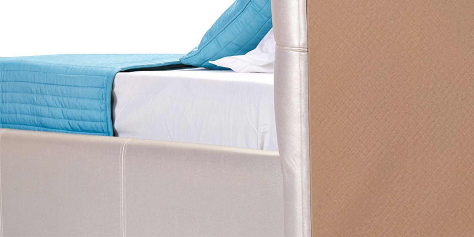 Мягкая кровать 200х160 Лайф без подъемного механизма (Перламутр)