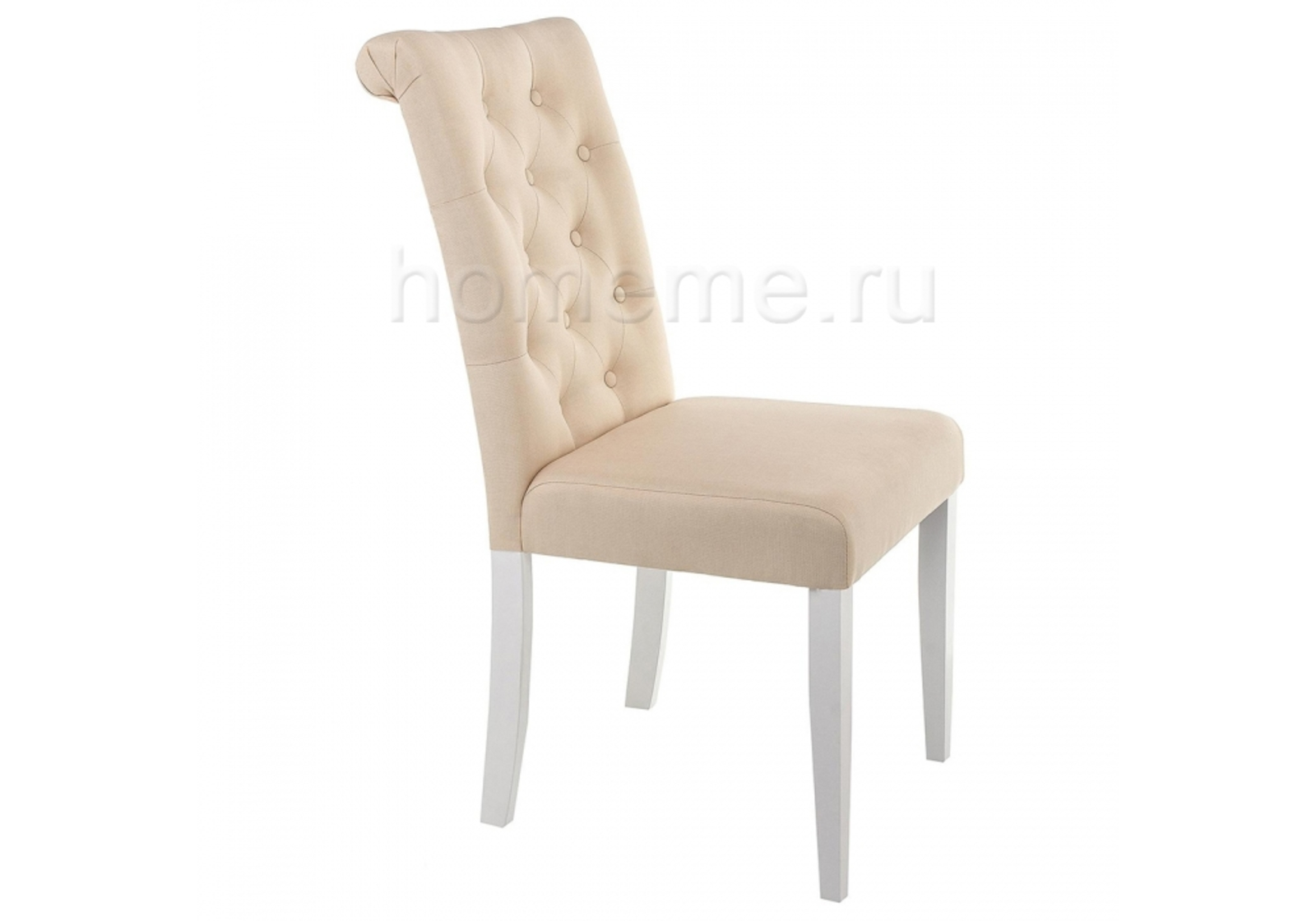 Стул HomeMe Amelia white / fabric cream 11021 от Homeme.ru