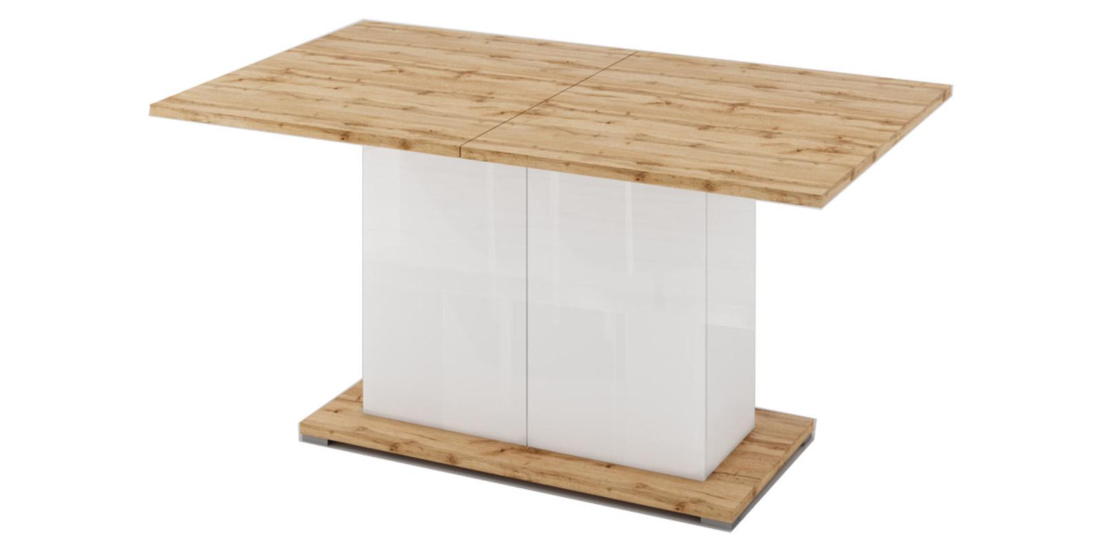 Обеденный стол Сахара Стол обеденный Сахара (дуб ватан/белый лак) САХАРА 1912.М1 фото