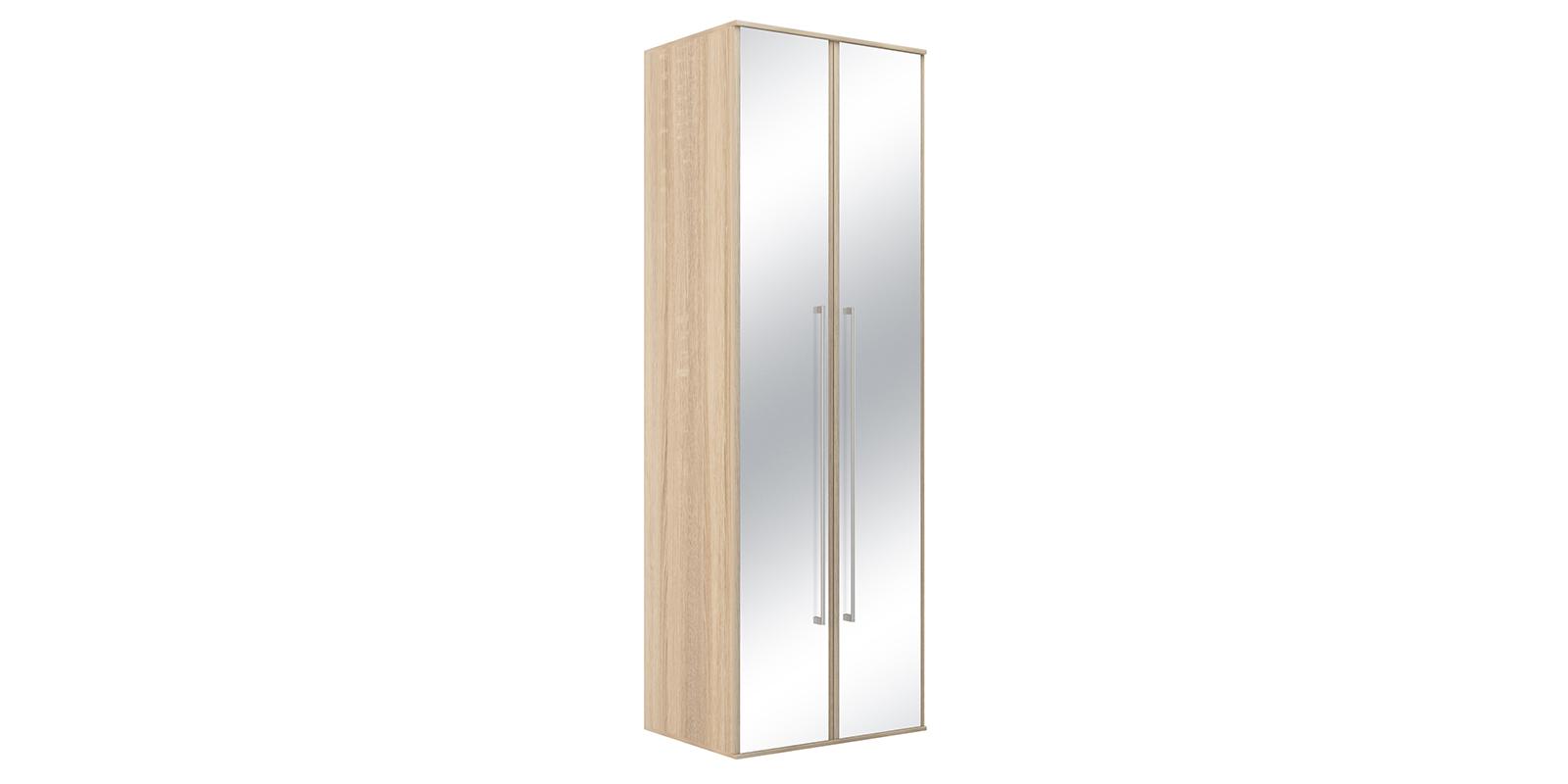 Шкаф распашной двухдверный Бали вариант №2 (дуб сонома/зеркальный)