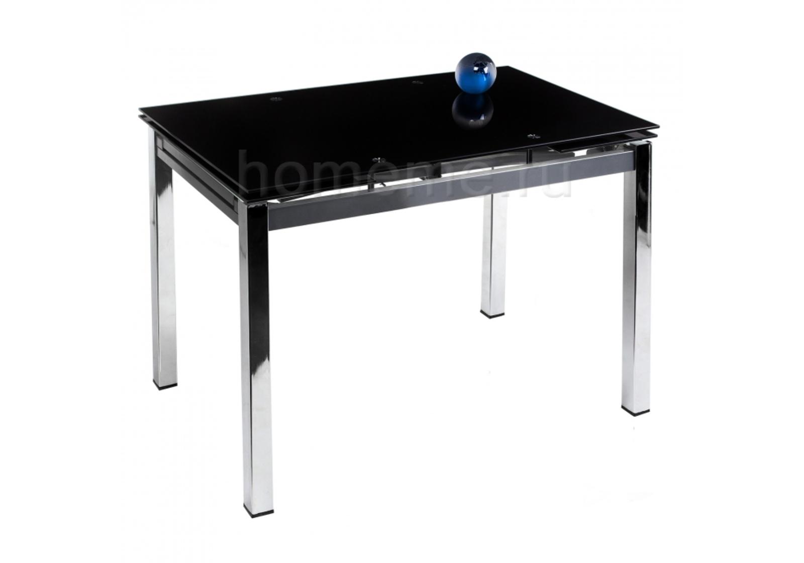 Стол стеклянный Kvadro 110 черный 1524 1524