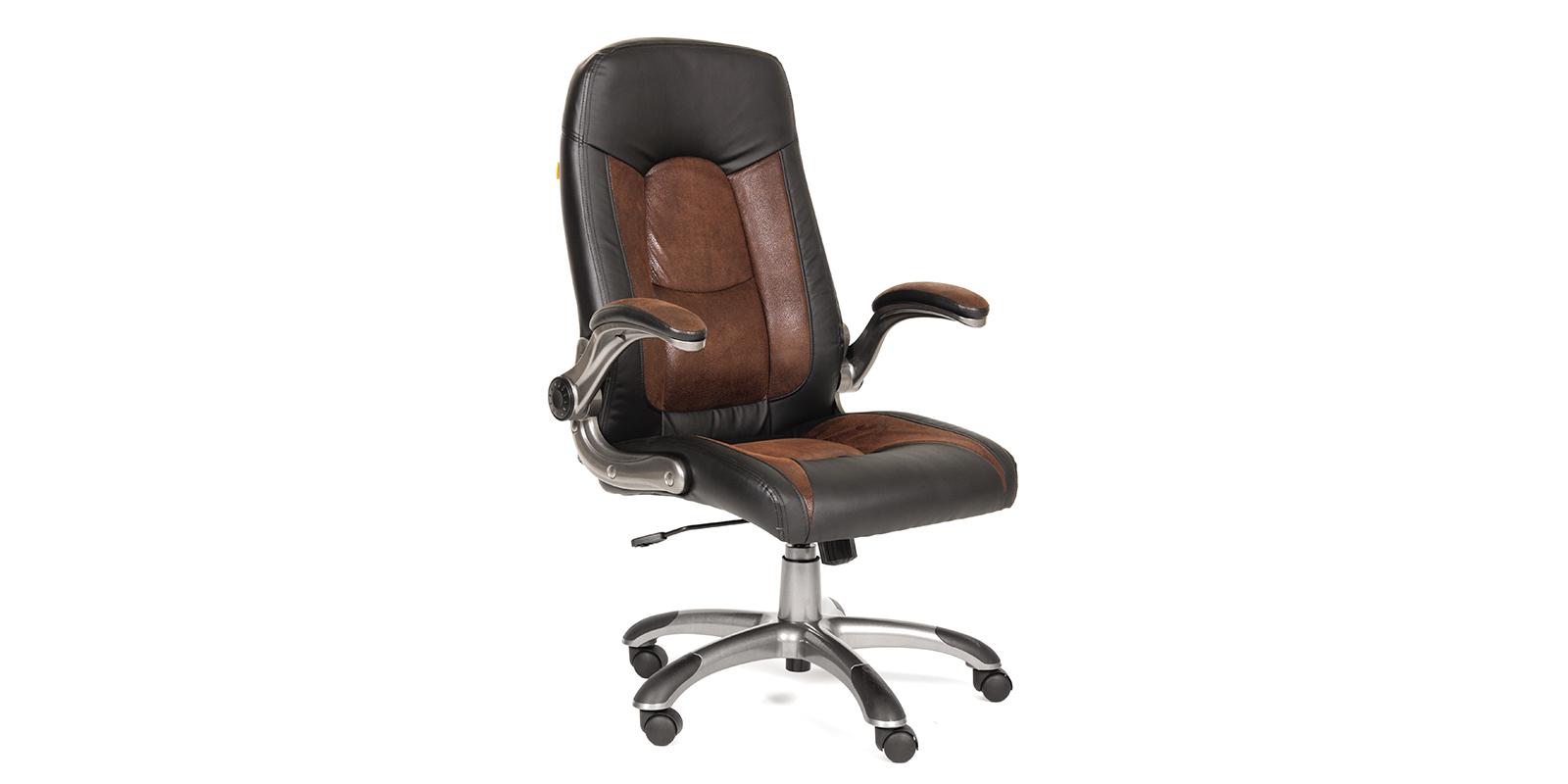 Кресло для руководителя Chairman 439 (черный/коричневый)