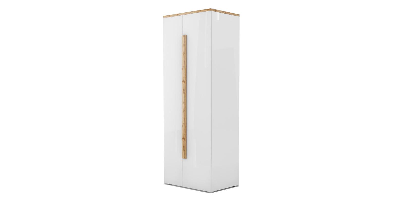 Шкаф распашной двухдверный Сахара вариант №1 (дуб ватан/белый лак) 1903.М1 HomeMe