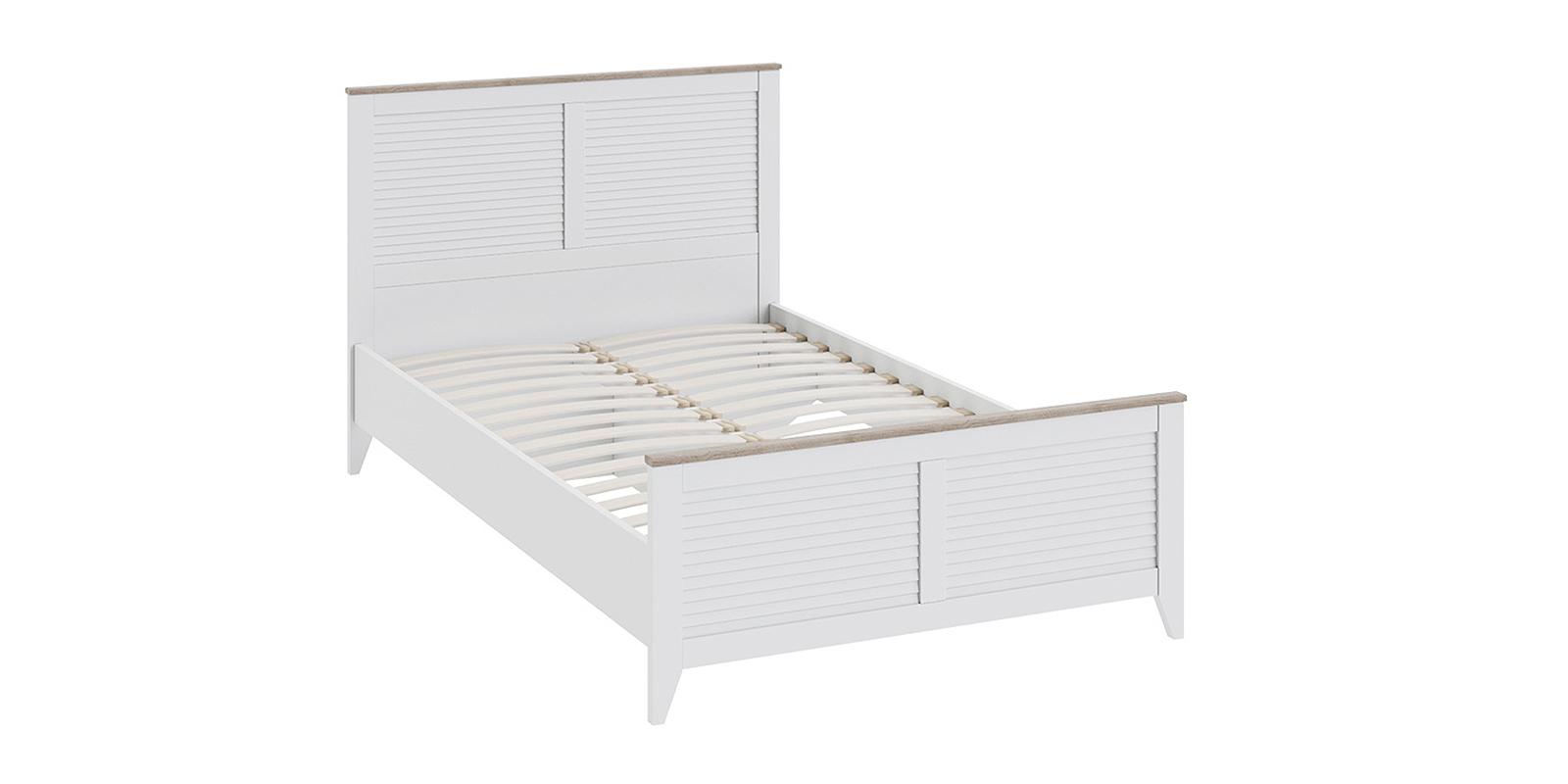 Кровать односпальная Мерида без подъемного механизма (дуб бежевый/белый)