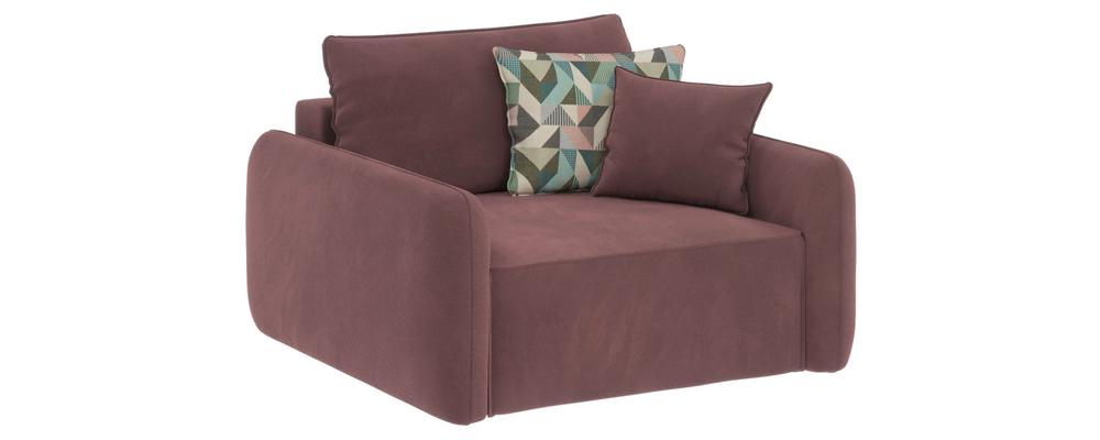 Модульный диван Портленд Grace розово-серый (Велюр)