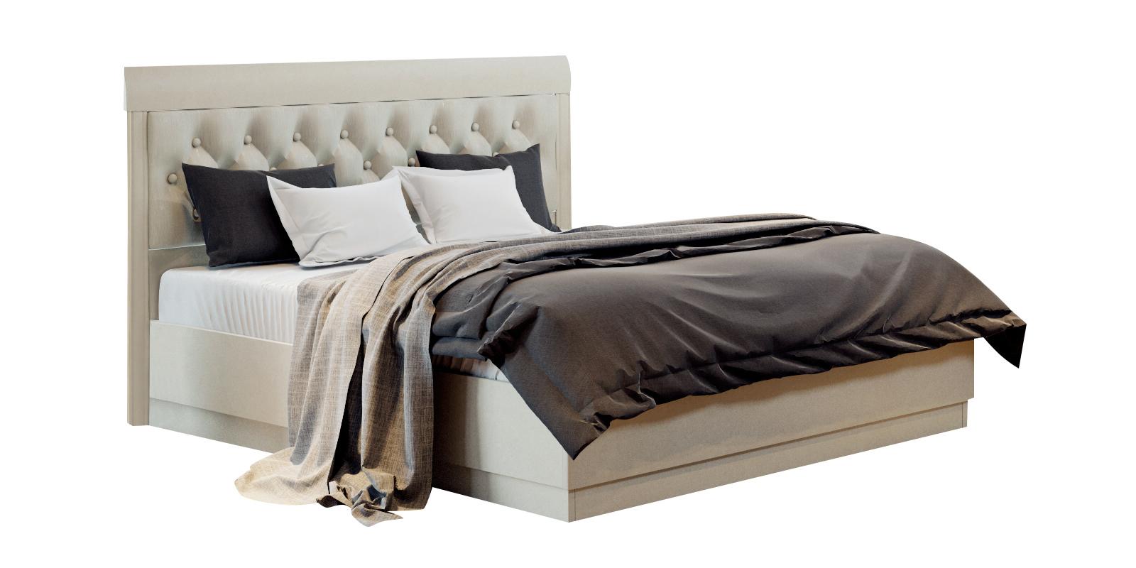 Кровать каркасная 200х160 Лацио с подъемным механизмом (бежевый)