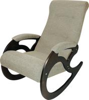 Кресло качалка Венера/Темный орех/Бежевый БИНГО 31