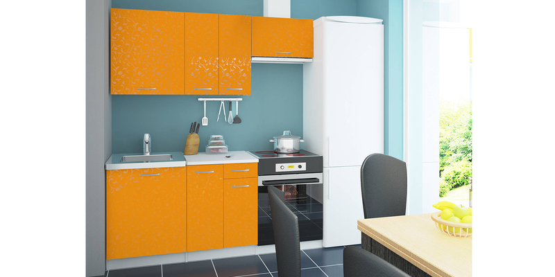 Кухонный гарнитур Ливорно 200 см (манго/белый)