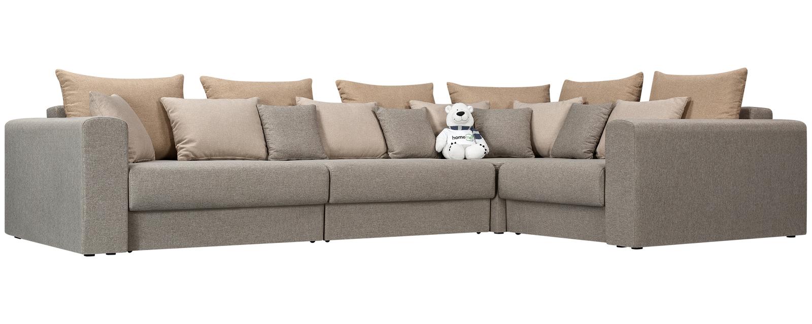 Модульный диван Медисон Вариант №2 Kiton серый (Рогожка)