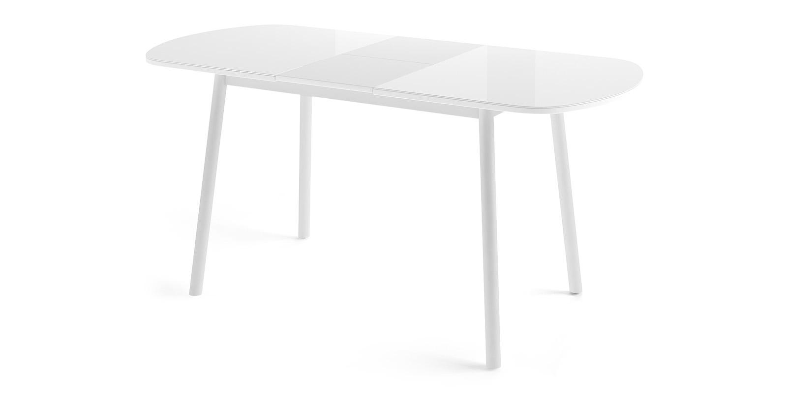 Обеденный стол Раунд (белый/серый)