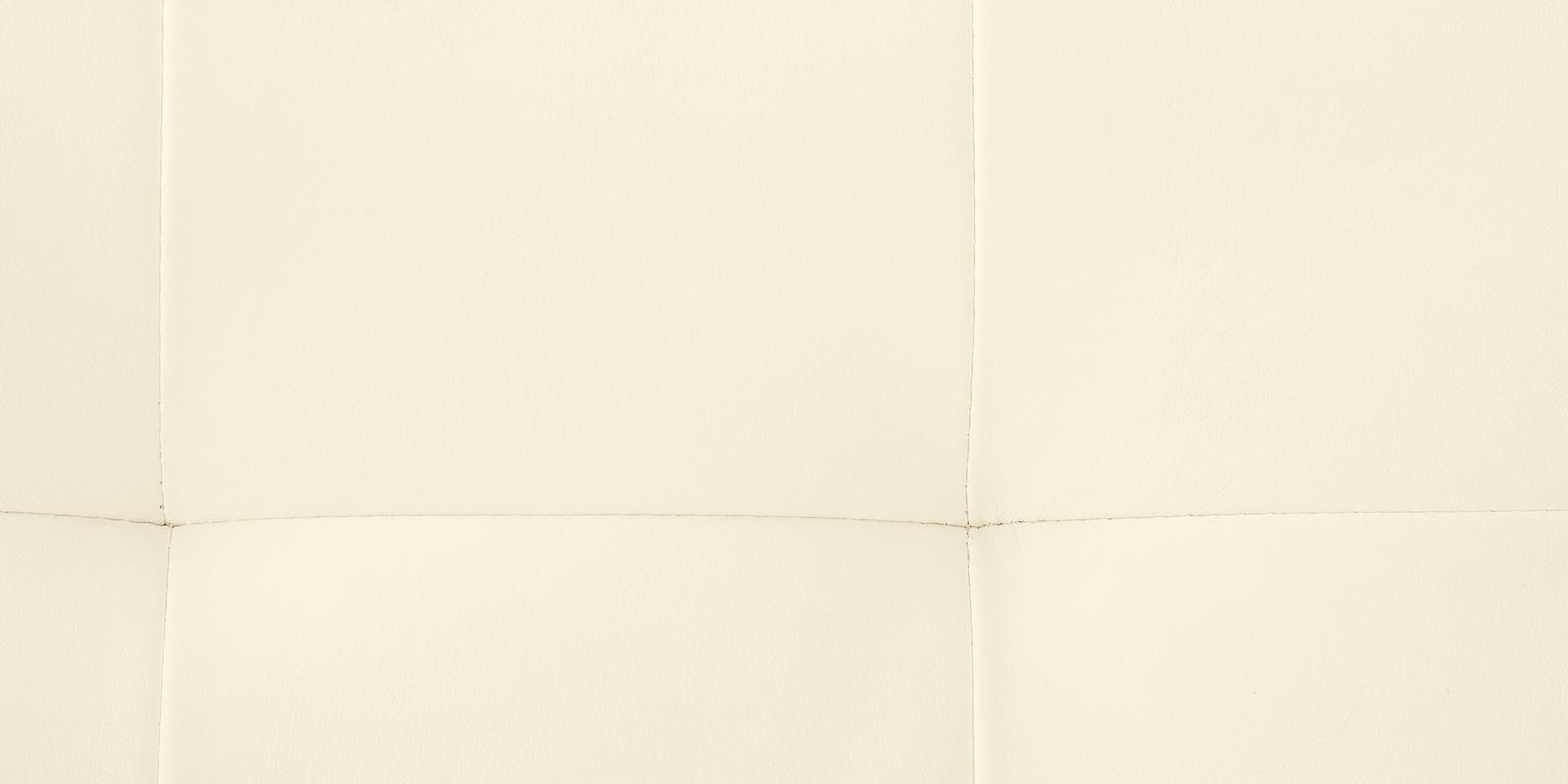 Диван тканевый угловой Бристоль Luxe молочный (Экокожа, правый)
