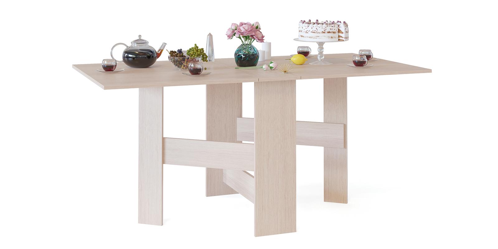 Стол обеденный Краков стол-книжка (беленый дуб) Краков