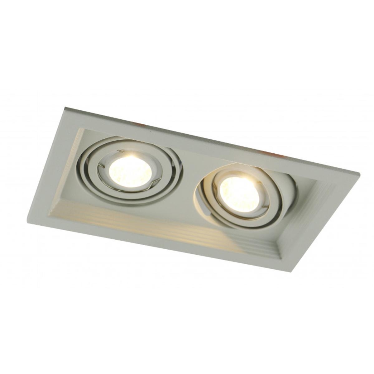 Купить Встраиваемый светильник CANIS Встраиваемый светильник ARTE Lamp A6661PL-2WH (14181), HomeMe