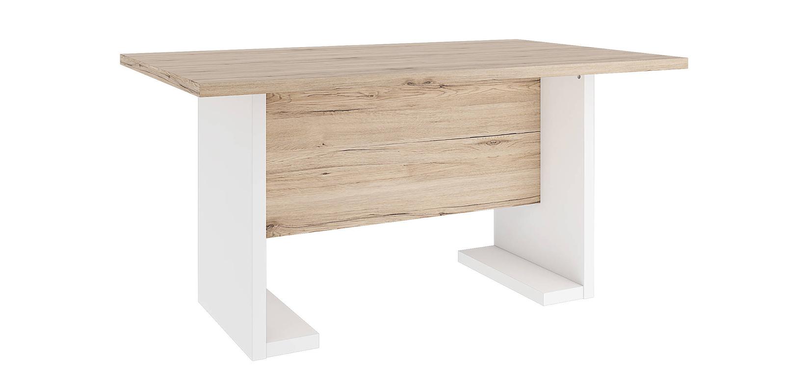 Стол обеденный Альмерия (дуб санремо/белый)
