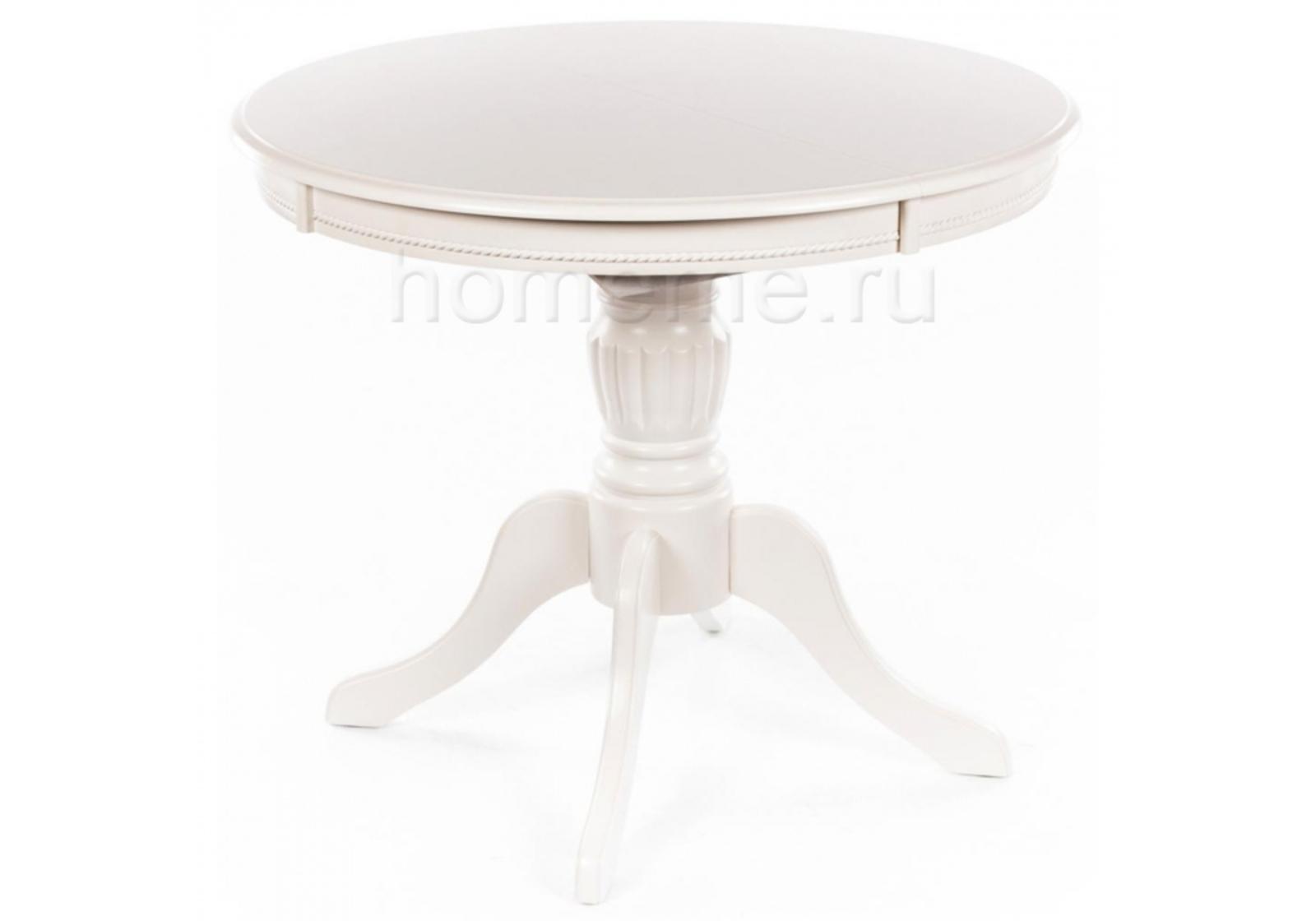 Кухонный стол HomeMe Тоскана 90 молочно-белый 1126 от Homeme.ru