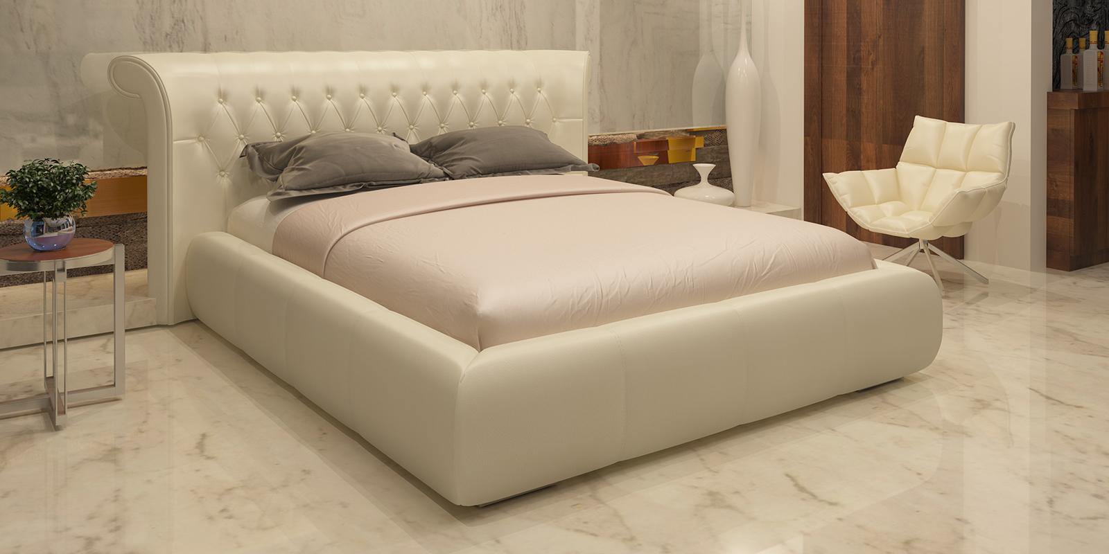 Мягкая кровать 200х160 Вирджиния с подъемным механизмом (Молочный) Вирджиния