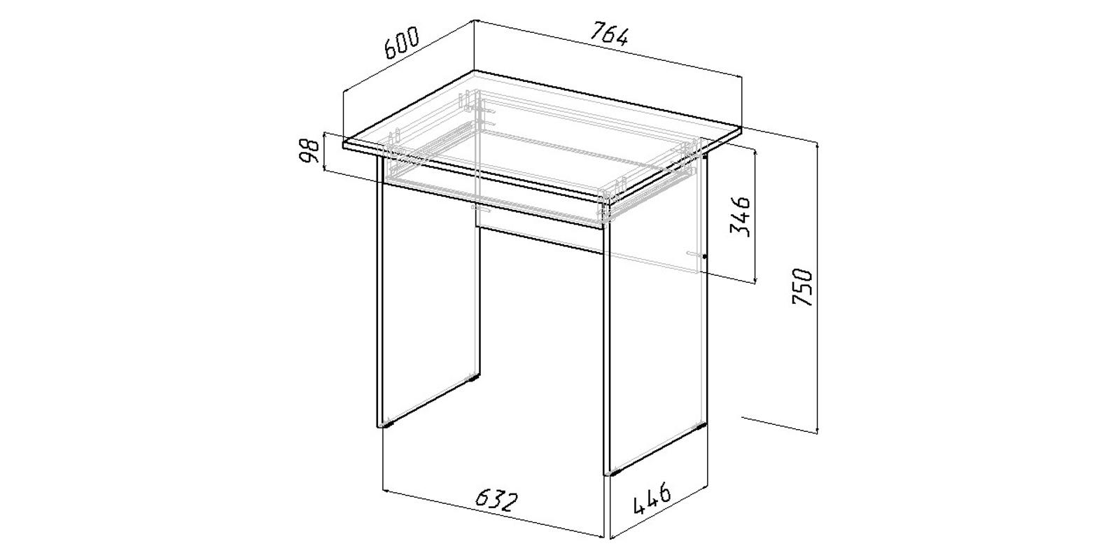 Письменный стол Харви вариант №3 (венге)